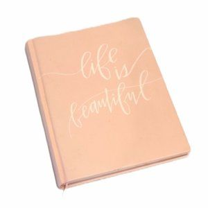 Life Is Beautiful Pink Notebook